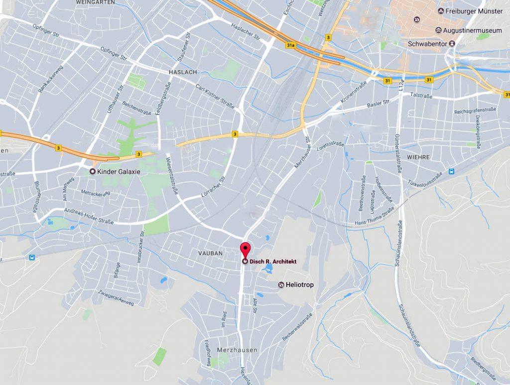Rolf disch p kontakt for Bewerbung architekturstudium