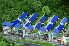 Die Solarsiedlung von Westen